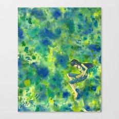 Readers Green Canvas Print