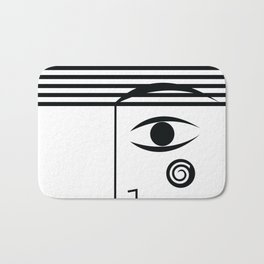 Line face Bath Mat