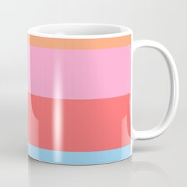 Matted Pastel Rainbow Coffee Mug