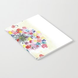 Dandelion watercolor illustration, rainbow colors, summer, free, painting Notebook