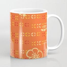 Orange Floral Coffee Mug
