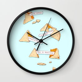 Not So Fortunate Cookies Wall Clock