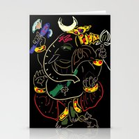 ganesha Stationery Cards featuring Ganesha by Ghavuri Kumar