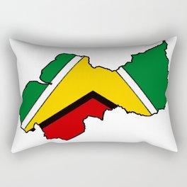 Guyana Map with Guyanese Flag Rectangular Pillow