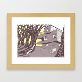The house Framed Art Print