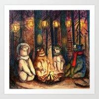 Camp Meeting By Helen Green Art Print
