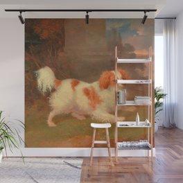 dog painting Blenheim spaniel Wall Mural