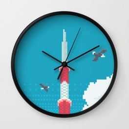 Seoul Tower - Blossom Wall Clock