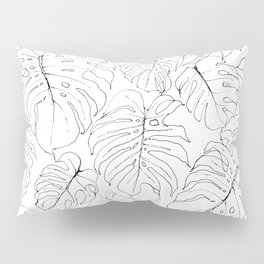 Monstera Deliciosa (Delicious Monster Leaves) Pillow Sham
