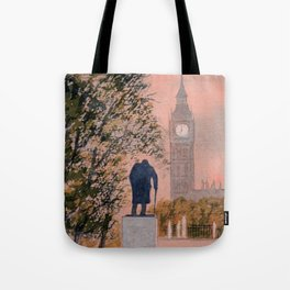 Churchill And Big Ben Tote Bag
