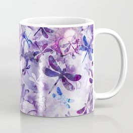 Dragonfly Lullaby in Pantone Ultraviolet Purple Coffee Mug