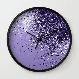 ULTRA VIOLET Glitter Dream #1 #shiny #decor #art #society6 Wall Clock