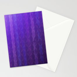 Royal Purple with Distressed Stripes Stationery Cards