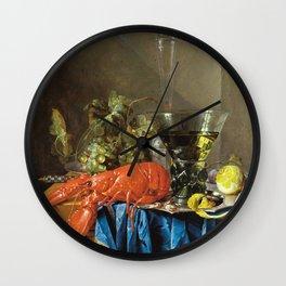 Cornelis De Heem - Still Life With Lobster Wall Clock