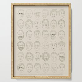 36 Funny People Serving Tray