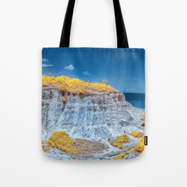 Cliff Panorama tropical Tote Bag