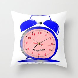 Fluid Time Throw Pillow