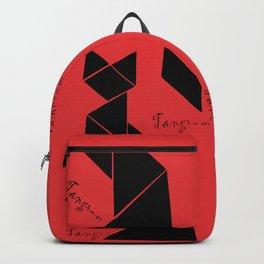 graphic tangram cat Backpack
