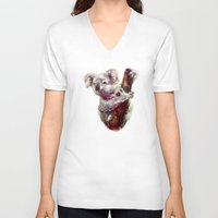 koala V-neck T-shirts featuring Koala by beart24