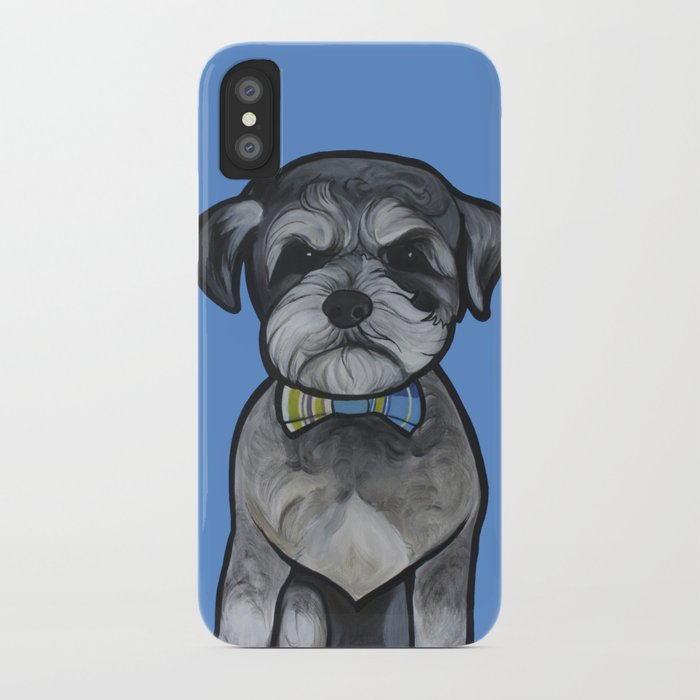 Gus the schnauzer mix iPhone Case