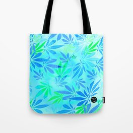 Blue Mint Cannabis Swirl Tote Bag