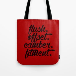 flush offset camber fitment v3 HQvector Tote Bag