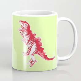 Dino Pop Art - T-Rex - Lime & Red Coffee Mug