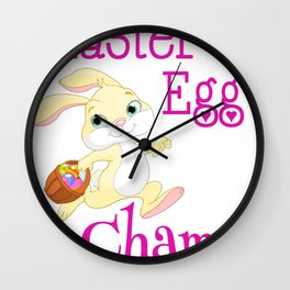 Easter Bunny Easter Egg Champ! Wall Clock