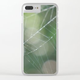 Glistening Spiderweb Clear iPhone Case