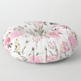 Roses and Wild Flowers Floor Pillow