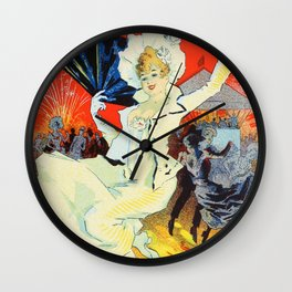 Jules Cheret Champs Elysees Jardin De Paris 1892 Wall Clock