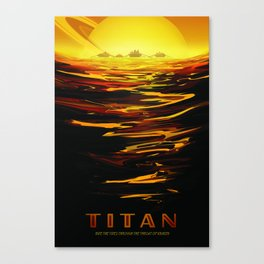 Titan : NASA Retro Solar System Travel Posters Canvas Print