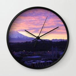 Sunrise over Tacoma Wall Clock