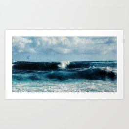 abstract waves Art Print