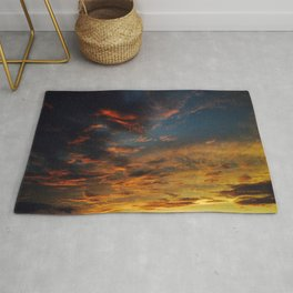 Blue And Yellow Sky By The Sunset Rug