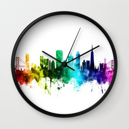 San Francisco California Skyline Wall Clock