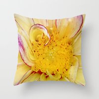 dahlia Throw Pillows featuring Dahlia by ThePhotoGuyDarren