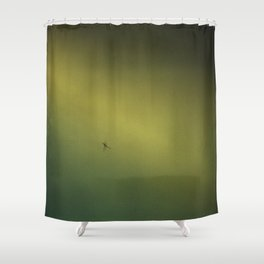Spider in the Fog Shower Curtain