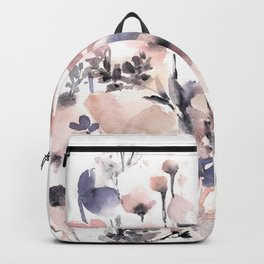 Flowers pink and purple Backpack