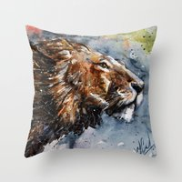 leon Throw Pillows featuring Leon by KOSTART