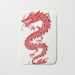 Chinese Dragon – Crimson Palette Bath Mat