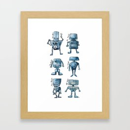 We Are All Robots Framed Art Print