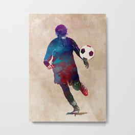 Football player sport art #football Metal Print