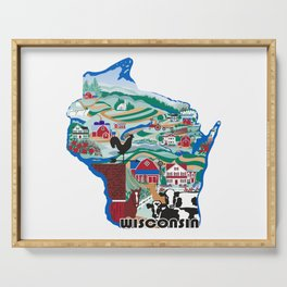 Wisconsin Country Sampler Serving Tray