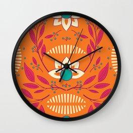 Flora Vibrant 003 Wall Clock
