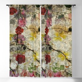 Floral background 89 Blackout Curtain