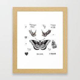 Tattoo à la Harry Framed Art Print