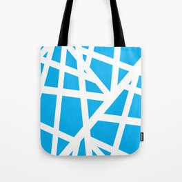 Abstract Interstate  Roadways White & Aqua Blue Color Tote Bag