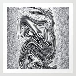 Curvaceous Silver Art Print