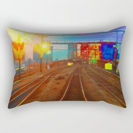 The Past Train 2 Square Rectangular Pillow